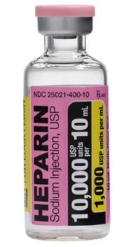 Heparin Sodium 1000u Ml 10ml 25 Bx 12bx Cs
