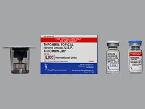 Thrombin 5000u Vial W 5ml Dil Ref Ea