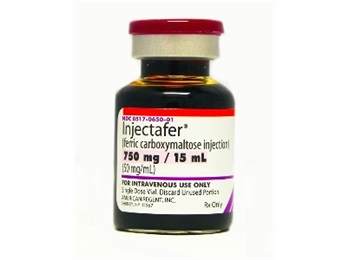 Injectafer Iron 750mg 15ml Sdv Ea