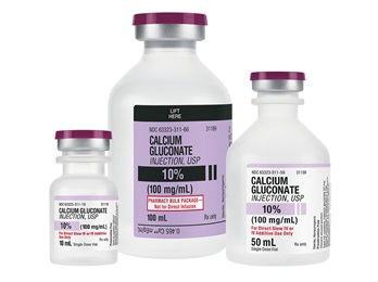 Calcium Gluconate 10 10ml Vial 25 Bx